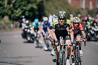 Jack Haig (AUS/Michelton-Scott) &amp; Vincenzo Nibali (ITA/Bahrain-Merida) leading the race in the last local lap<br /> <br /> 82nd Fl&egrave;che Wallonne 2018 (1.UWT)<br /> 1 Day Race: Seraing - Huy (198km)