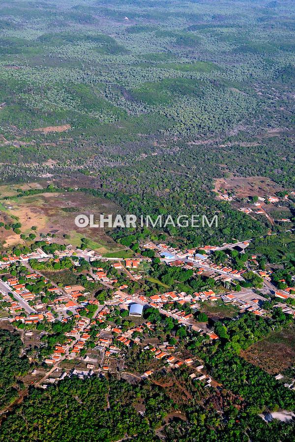 Aérea da cidade de Nossa Senhora dos Remédios. Piauí, 2009. Foto de Zig Koch.