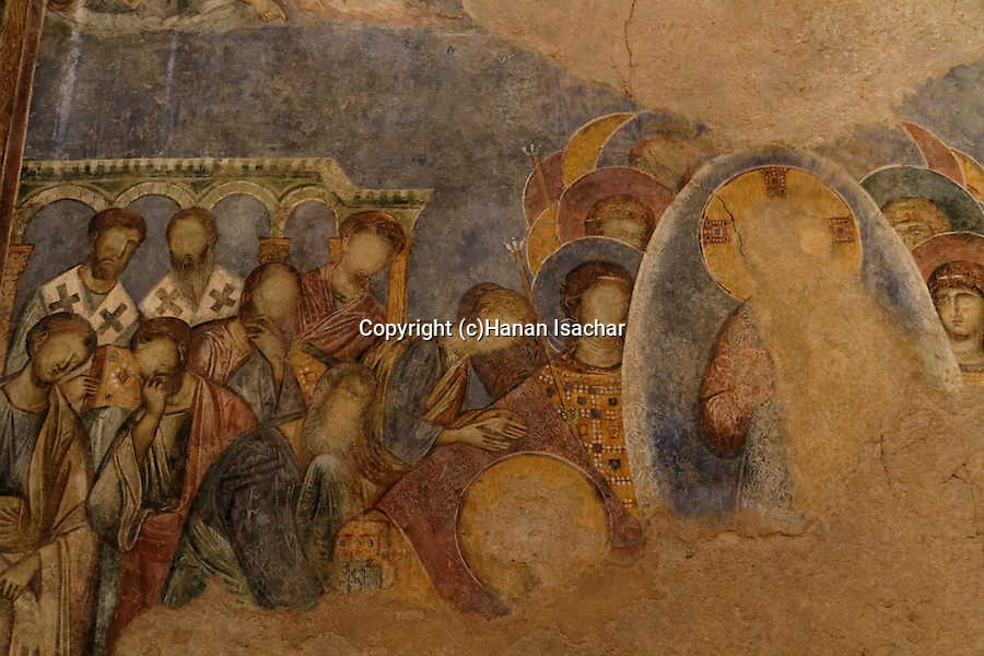 Israel, frescos at the Benedictine Crusader Church in Abu Gosh