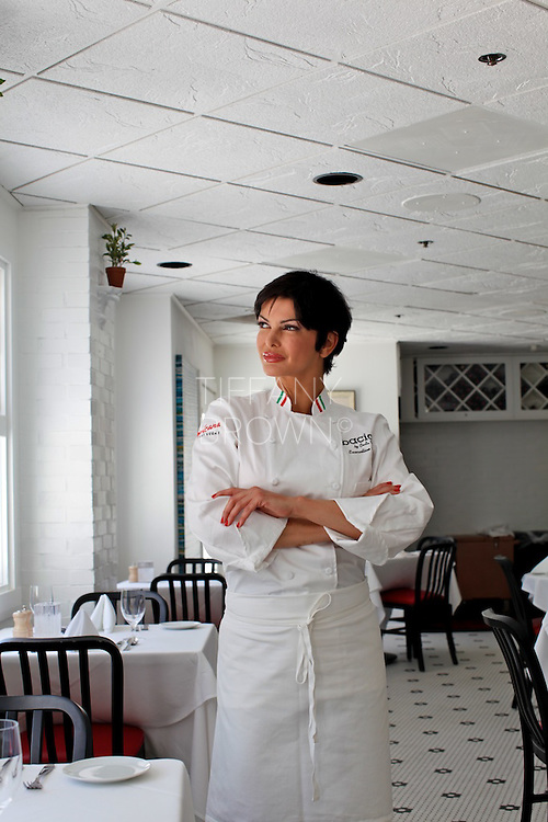 Chef Carla Pellegrino poses in her restaurant,  Bacio by Carla Pellegrino, in Las Vegas on Thursday, June 23, 2011. Photo by Tiffany Brown