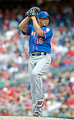 New York Mets pitcher Daisuke Matsuzaka (16) works in the eighth inning against the Washington Nationals at Nationals Park in Washington, DC on Sunday, May 18, 2014.  The Nationals won the game 6 - 3.<br /> Credit: Ron Sachs / CNP<br /> (RESTRICTION: NO New York or New Jersey Newspapers or newspapers within a 75 mile radius of New York City)
