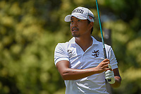 Satoshi Kodaira (JPN) watches his tee shot on 9 during round 3 of the Fort Worth Invitational, The Colonial, at Fort Worth, Texas, USA. 5/26/2018.<br /> Picture: Golffile | Ken Murray<br /> <br /> All photo usage must carry mandatory copyright credit (&copy; Golffile | Ken Murray)
