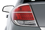 Tail light close up detail view of a 2008 saturn acura