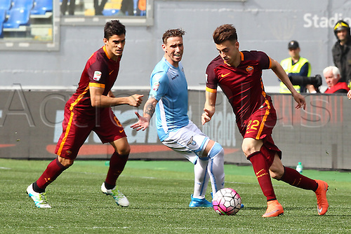 03.04.2016. Stadium Olimpico, Rome, Italy.  Serie A football league. Derby Match SS Lazio versus AS Roma. El Sharaawi in action
