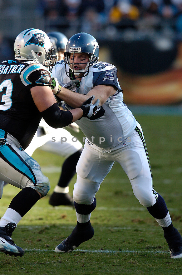 CRAIG TERRILL, of the Seattle Seahawks  in action during the Seahawks game against the Carolina Panthers  on December 16, 2007 in Charlotte, North Carolina...PANTHERS win 13-10..SPORTPICS