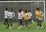 Mexico national soccer team players  Francisco Javier Rodriguez (L-R), Francisco Kikin Fonseca, Gerardo Torrado, Luis Perez, Jose Antonio Castro, Joel Huiqui and Mario Mendez train during a training session at the Centro Pegaso training center, March 27, 2006. Photo by Javier Rodriguez