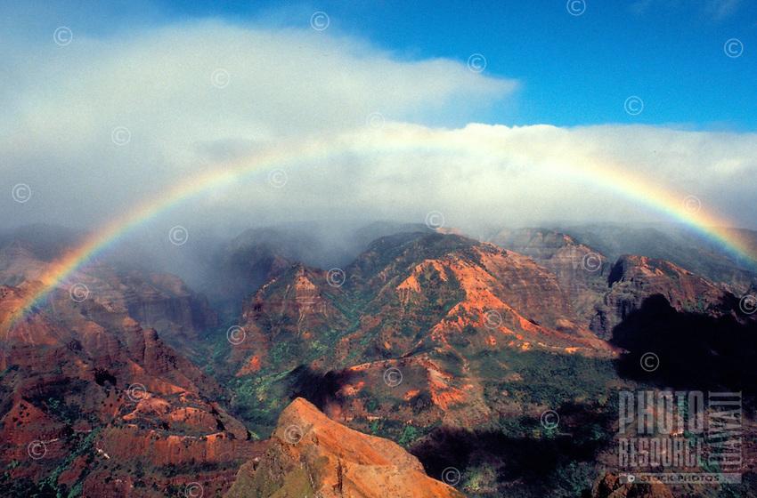 Rainbow gracing Waimea Canyon on the Island of Kauai