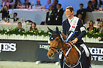 Daniel Deusser of Germany riding Happiness van T Paradijs wins the Longines Speed Challenge, part of the Longines Masters of Hong Kong on 11 February 2017 at the Asia World Expo in Hong Kong, China. Photo by Weixiang Lim / Power Sport Images
