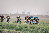 Tim Merlier (BEL/Veranda's Willems Crelan), Wout Van Aert (BEL/Veranda's Willems-Crelan) &amp; Coen Vermeltfoort (NED/Roompot Nederlandse loterij) chasing the race leaders<br /> <br /> Antwerp Port Epic 2018 (formerly &quot;Schaal Sels&quot;)<br /> One Day Race:  Antwerp &gt; Antwerp (207 km; of which 32km are cobbles &amp; 30km is gravel/off-road!)