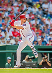 29 June 2017: Washington Nationals catcher Matt Wieters in action against the Chicago Cubs at Nationals Park in Washington, DC. The Cubs rallied against the Nationals to win 5-4 and split their 4-game series. Mandatory Credit: Ed Wolfstein Photo *** RAW (NEF) Image File Available ***