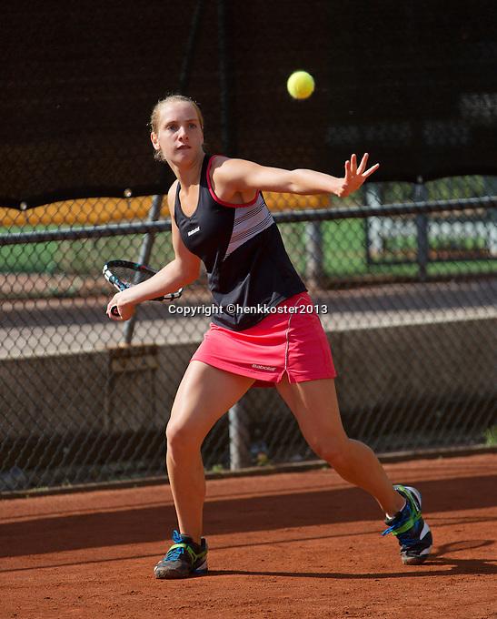 10-08-13, Netherlands, Rotterdam,  TV Victoria, Tennis, NJK 2013, National Junior Tennis Championships 2013,  Isolde de Jong wins girls 14 years<br /> <br /> Photo: Henk Koster