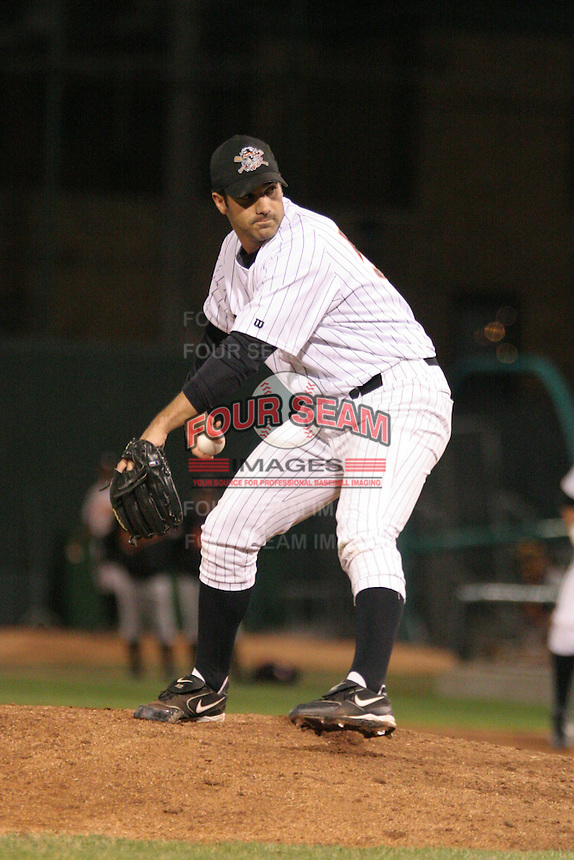 Erie Seawolves Pete Sikaras during an Eastern League game at Jerry Uht Park on April 14, 2006 in Erie, Pennsylvania.  (Mike Janes/Four Seam Images)