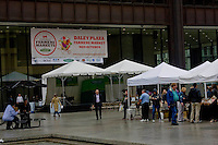 Opening day ceremony for the Daley Plaza Farmer's Market.