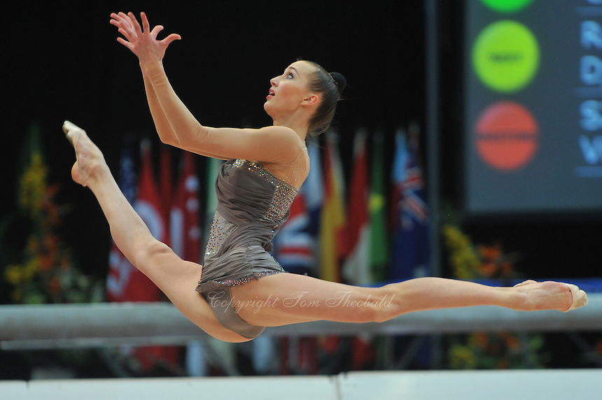 Anna Rizatdinova of Ukraine performs in training at 2011 World Cup at Portimao, Portugal on April 29, 2011.
