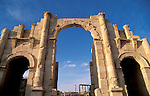 Jordan, Jerash. The southern gate of the Roman city&amp;#xA;<br />
