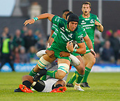 9th September 2017, Galway Sportsground, Galway, Ireland; Guinness Pro14 Rugby, Connacht versus Southern Kings; Ultan Dillane carries the ball forward for Connacht