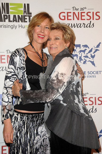 WWW.ACEPIXS.COM . . . . .  ....March 24 2012, LA....Cloris Leachman (R) arriving at the 26th Annual Genesis Awards at The Beverly Hilton Hotel on March 24, 2012 in Beverly Hills, California. ....Please byline: PETER WEST - ACE PICTURES.... *** ***..Ace Pictures, Inc:  ..Philip Vaughan (212) 243-8787 or (646) 769 0430..e-mail: info@acepixs.com..web: http://www.acepixs.com