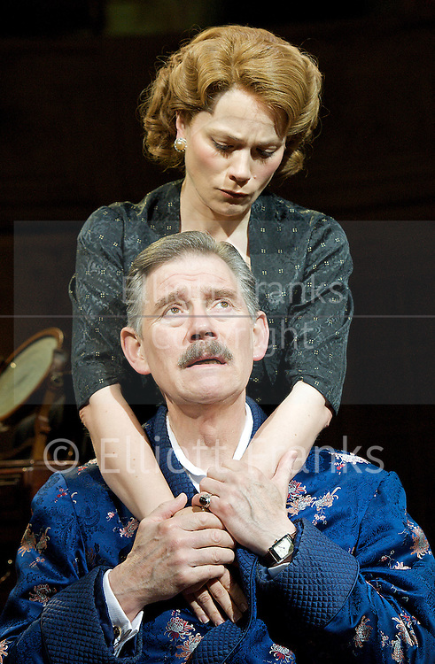 A Marvellous Year for Plums <br /> by Hugh Whitemore<br /> at The Chichester Festival Theatre, Chichester, Great Britain <br /> <br /> press photocall<br /> 16th May 2012 <br /> directed by Philip Franks <br /> <br /> <br /> Imogen Stubbs (as Ann Fleming)<br /> <br /> Nicholas Le Prevost (as Hugh Gaitskell)<br /> <br /> Anthony Andrews (as Anthony Eden)<br /> <br /> Abigail Cruttenden (as Clarissa Eden)<br /> <br /> Simon Dutton (as Ian Fleming)<br /> <br /> <br /> <br /> Photograph by Elliott Franks