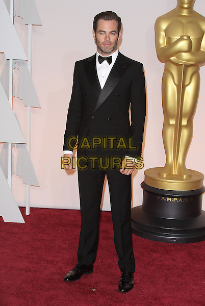 22 February 2015 - Hollywood, California - Chris Pine. 87th Annual Academy Awards presented by the Academy of Motion Picture Arts and Sciences held at the Dolby Theatre. <br /> CAP/ADM<br /> &copy;AdMedia/Capital Pictures Oscars
