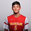 Kevin Lee of Chaminade poses for a portrait during the 2015 Newsday All-Long Island boys' soccer shoot at company headquarters on Monday, Dec. 7, 2015.