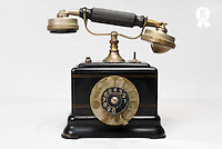 Antique Ericsson dial telephone, in studio (Licence this image exclusively with Getty: http://www.gettyimages.com/detail/74583278 )