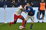 16.03.2019, VELTINS-Arena, Gelsenkirchen, GER, DFL, 1. BL, FC Schalke 04 vs RB Leipzig, DFL regulations prohibit any use of photographs as image sequences and/or quasi-video<br /> <br /> im Bild v. li. im Zweikampf Amadou Haidara (#8, RB Leipzig) Sutat Serdar (#8, FC Schalke 04) <br /> <br /> Foto © nph/Mauelshagen