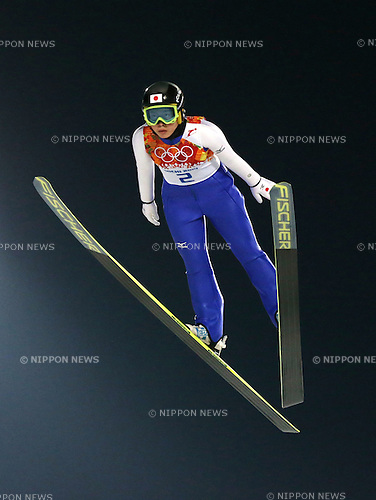 Yurina Yamada (JPN), <br /> FEBRUARY 11, 2014 - Ski Jumping : <br /> Women's Individual Normal Hill <br /> at &quot;RUSSKI GORKI&quot; Jumping Center <br /> during the Sochi 2014 Olympic Winter Games in Sochi, Russia. <br /> (Photo by Koji Aoki/AFLO SPORT)
