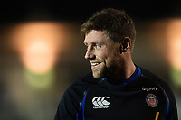Rhys Priestland of Bath Rugby looks on prior to the match. Premiership Rugby Cup match, between Bath Rugby and Gloucester Rugby on February 3, 2019 at the Recreation Ground in Bath, England. Photo by: Patrick Khachfe / Onside Images