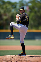 Pittsburgh Pirates pitcher Santiago Florez (57) during a Minor League Extended Spring Training game against the Philadelphia Phillies on May 3, 2018 at the Pirate City in Bradenton, Florida.  (Mike Janes/Four Seam Images)