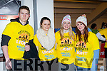 Kyle Traynor, Tara Roper, Tara Coffey and Jennifer O'Reilly at the Darkness into Light walk at Killarney Racecourse Saturday morning