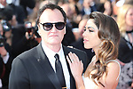 "72nd edition of the Cannes Film Festival in Cannes in Cannes, southern France on May 21, 2019. Red Carpet for the screening of the film ""Once Upon a Time... in Hollywood"" US film director, screenwriter, producer, and actor Quentin Tarantino and hiswife Israeli singer Daniella Pick on the red carpet."