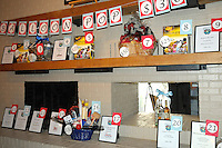 Prizes available at the balloon pop lined the wall at the Red, White and Baby Blue event benefitting the Jackson Graves Foundation hosted at The Garden Room on June 24.