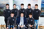 Killarney Mayor Niall Kelleher presented  a Killarney Municipal District award to St Brendans College footballers that won the Hogan Cup  in Killarney House on Friday night front row l-r: Sean O'Leary, Darragh moynihan. Back row: Jack griffin, Oran O'Donohue, Lorcan McMonagle, Barry Slattery and Cian Gammell