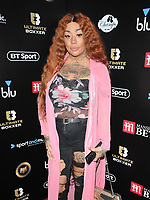 Mutya Buena at the Ultimate Boxxer III professional boxing tournament, indigO2 at The O2, Millennium Way, Greenwich, London, England, UK, on Friday 10th May 2019.<br /> CAP/CAN<br /> &copy;CAN/Capital Pictures