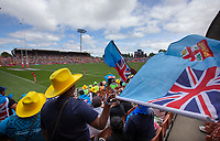 Sevens fans at the 2019 HSBC World Sevens Series Hamilton,  at FMG Stadium in Hamilton, New Zealand on Saturday, 26 January 2018. Photo: Brett Phibbs / lintottphoto.co.nz