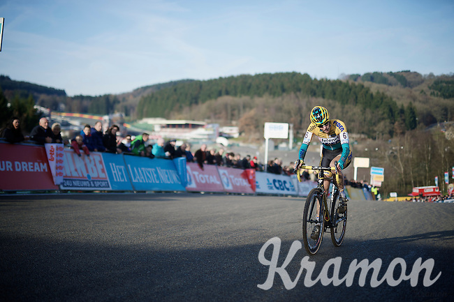 Ellen Van Loy (BEL/Telenet-Fidea) just meters away from finishing 3rd<br /> <br /> Superprestige Francorchamps 2014