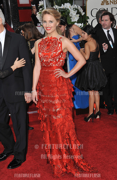 Dianna Agron at the 69th Golden Globe Awards at the Beverly Hilton Hotel..January 15, 2012  Beverly Hills, CA.Picture: Paul Smith / Featureflash