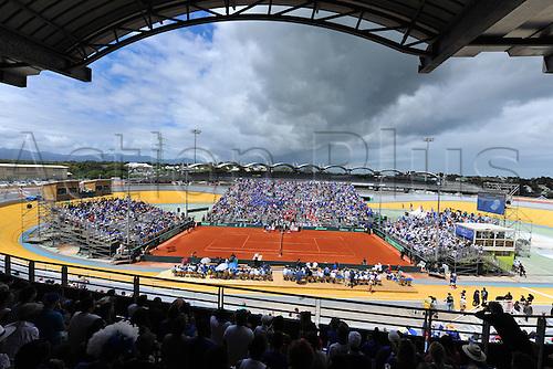 04.03.2016. Vélodrome Amédée Detraux, Guadeloupe, France. Davis Cup 1st round. France versus Canada.  Velodrome de Baie Mahault