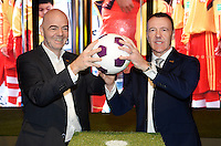 28-02-2016 Zurigo  Football FIFA; New FIFA President Gianni Infantino and museum director Stefan Jost pose after the inauguration of the new FIFA museum<br /> (Steffen Schmidt/freshfocus/Insidefoto)