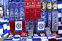 Chelsea v Mol Vidi scarves on sale outside the ground on the various market stalls during Chelsea vs MOL Vidi, UEFA Europa League Football at Stamford Bridge on 4th October 2018