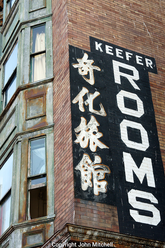 Keefer Rooms rooming house in  Chinatown, Vancouver, British Columbia, Canada