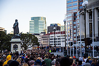 Green Party co-leader James Shaw addresses the crowd. Black Lives Matter protest march from Civic Square to Parliament in Wellington, New Zealand on Sunday, 14 June, 2020. Photo: Dave Lintott / lintottphoto.co.nz