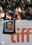 Lady Gaga fans attend the 'Gaga: Five Foot Two' Premiere during the 2017 Toronto International Film Festival at Princess of Wales Theatre on September 8, 2017 in Toronto, Canada.