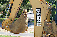 0713-1110  Backhoe (back actor, rear actor), Detail of Bucket and Excavating Arm, Excavating Equipment  © David Kuhn/Dwight Kuhn Photography