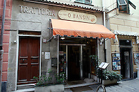 L'entrata della trattoria O Bansin, a Rapallo.<br /> The entrance of the trattoria O Bansin in Rapallo.<br /> UPDATE IMAGES PRESS/Riccardo De Luca