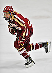 10 February 2012: Boston College Eagles defenseman Isaac MacLeod, a Sophomore from Nelson, British Columbia, in action against the University of Vermont Catamounts at Gutterson Fieldhouse in Burlington, Vermont. The Eagles defeated the Catamounts 6-1 in their Hockey East matchup. Mandatory Credit: Ed Wolfstein Photo