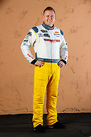 Feb 1, 2018; Chandler, AZ, USA; NHRA top fuel driver Richie Crampton poses for a portrait during Nitro Spring Training pre season testing at Wild Horse Pass Motorsports Park. Mandatory Credit: Mark J. Rebilas-USA TODAY Sports