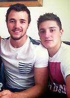Pictured: Aaeron Evans (L), image taken from his social media page.<br /> Re: Trial at Cardiff Crown Court of Jake Vallely, 23 and Aaeron Evans, 22, charged with murder and causing actual bodily harm respectively in relation to the death of serviceman Matthew Boyd, 20, from the Royal Gibraltar Regiment who was discovered injured and unconscious in Lion Street, Brecon, at 1am on May 8, 2016. The two defendants were arrested shortly afterwards and charged four days later.