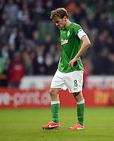 FUSSBALL   1. BUNDESLIGA   SAISON 2012/2013    30. SPIELTAG SV Werder Bremen - VfL Wolfsburg                          20.04.2013 Clemens Fritz (SV Werder Bremen) ist nach dem Abpfiff enttaeuscht