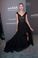 NEW YORK, NY - FEBRUARY 6: Daphne Groeneveld arriving at the 21st annual amfAR Gala New York benefit for AIDS research during New York Fashion Week at Cipriani Wall Street in New York City on February 6, 2019. <br /> CAP/MPI99<br /> &copy;MPI99/Capital Pictures